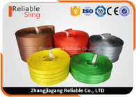 Light weight Color Coded Polyester Cargo Webbing , 25mm-300mm Flat Webbing