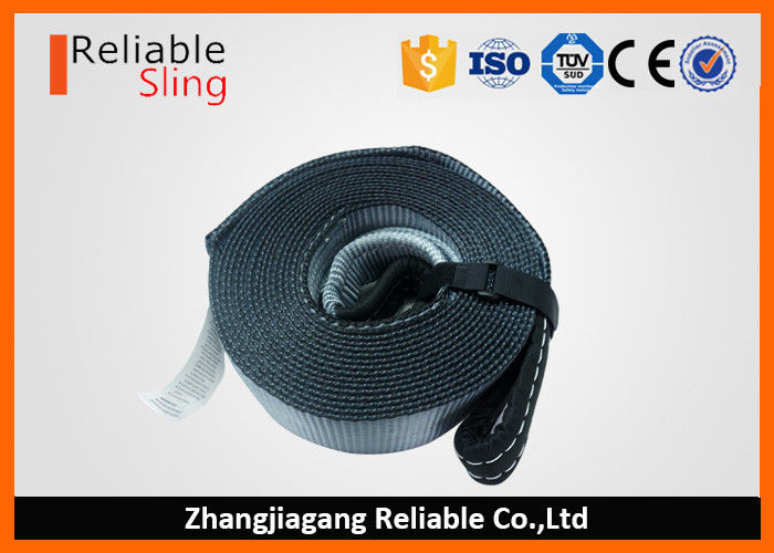 3 Inch Heavy Duty Polyester Tow Recovery Strap With Reinforced Loop